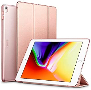ESR iPad Pro 10.5 ケース 軽量 薄型 スタンド オートスリープ機能 PUレザー 半透明 傷つき防止 三つ折タイプスマートカバー iPad 10.5インチ(モデル番号A1701 A1709)2017版専用(ローズゴールド)