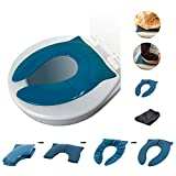 THREE LITTLE TOTS - Modern and Safe Portable Potty Seat, Dark Teal Folding Travel Potty Training Seat for Girls and Boys, Fits Round and Oval Toilets, On The go or at Home, Includes Travel Bag
