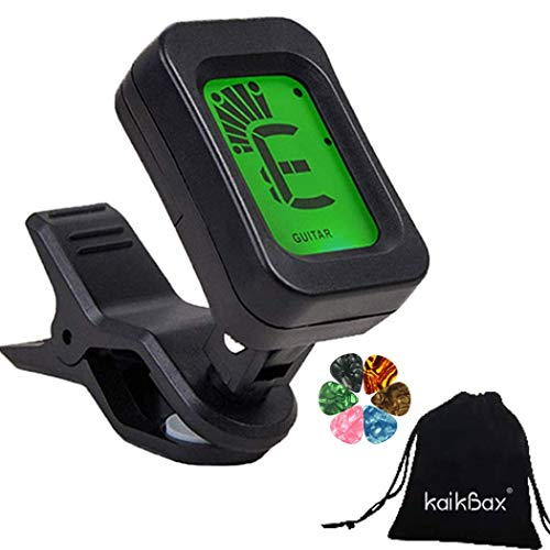BoBoLing Guitar Tuner/Clip on Bass Tuner/Battery Powered Digital Tuner for Acoustic Guitar, Bass, Violin, Ukulele/Bass and Other Musical Instruments Best QualityShop