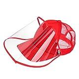Tanmo Gorra de béisbol de Malla de Color de Contraste Unisex, Protector Facial Transparente, Sombrero para el Sol Anti-escupitajos