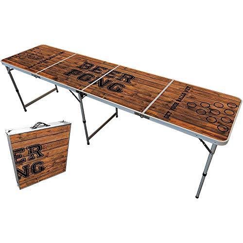 Original Cup - Mesa Oficial de Beer Pong, Cerveza, 240 x 60 x 70 cm, Resistente a los Arañazos, Estable, Ligero, para Fiesta - Oldschool