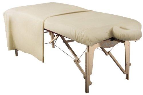 Bezüge Flanell-Set für Massageliegen natur 3-teilig, Kopfstützenbezug, Laken, MassageliegenbezugPolyester