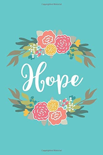 Hope 6x9 Lined Writing Notebook Journal with Personalized Name 120 Pages Pink Yellow Flowers product image