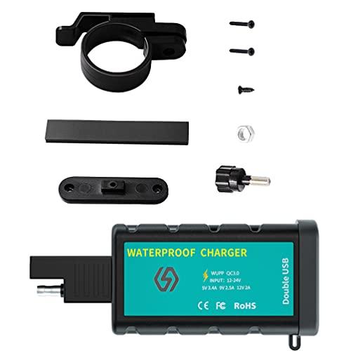 VICASKY 1 Unidad de Cargador de Sensible Cargador Rápido USB Dual con Estante Montado