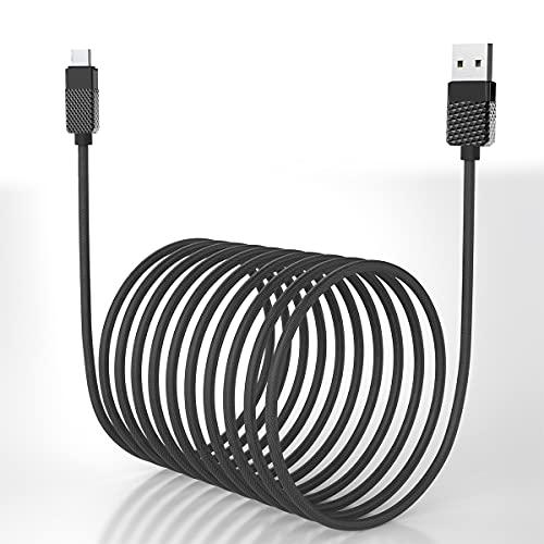 Cargador largo tipo C, cable controlador USB C para 5M /16.4FT, cable de sincronización rápida de cable trenzado de nailon, adecuado para Samsung/Galaxy s10 / s9 / s8 / cable de carga Android Huawei