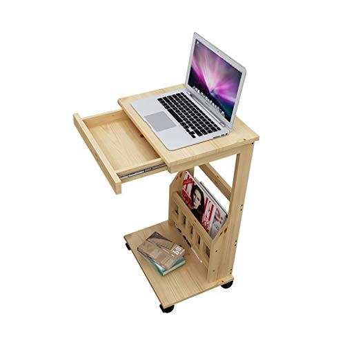 Tables basses Chariot à thé canapé côté Salon Mini Table Amovible Table d'appoint en Bois Massif (Color : Brown, Size : 35 * 28 * 65cm)
