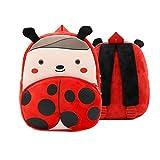 Wqzsffgg Mochila de jardín de Infantes para niños y niñas, Mochila para niños con patrón Animal, Mochila Escolar de Color Lindo, Adecuada para niños pequeños (Color : Ladybug)