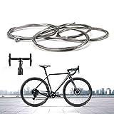 Cavo di Freno Universale per Mountain Bike da 4 Pezzi e Cavo del Cambio per Biciclette Accessorio di Ricambio Anteriore e Posteriore per Mountain Bike Universale da Bici da Strada