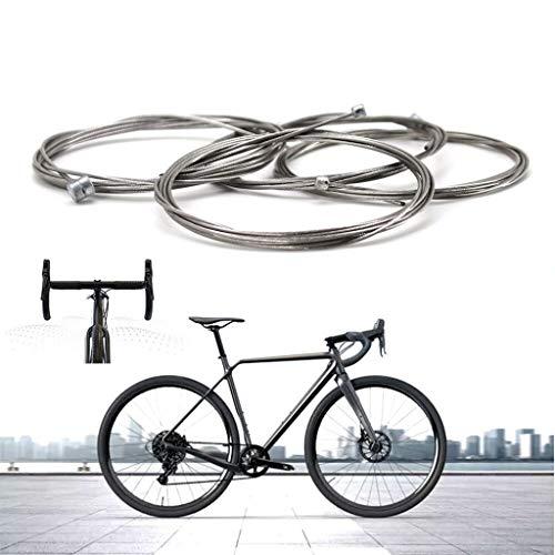 Lifreer 4 cables de freno universales para bicicleta de montaña y cable...