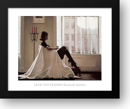 In Thoughts of You 24x20 Framed Art Print by Vettriano, Jack