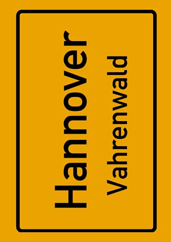 Hannover Vahrenwald: Deine Stadt, deine Region, deine Heimat!   Notizbuch DIN A4 blanko 120 Seiten Geschenk