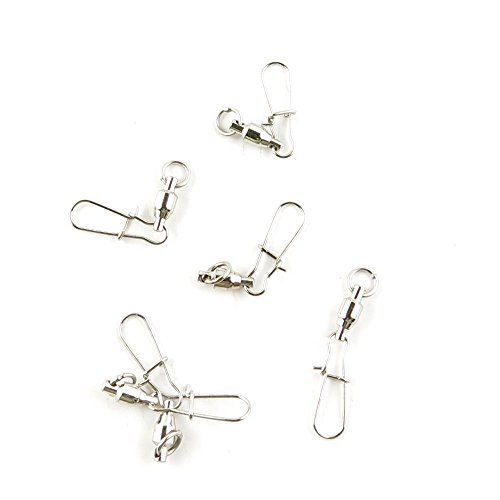 Fishing Swivel 350 Pieces Tackle Fly Solid Clip Bulk Lots Wholesale Supplies O0633 Ball Bearing Rolling Ring Test 11kg Cross Lock