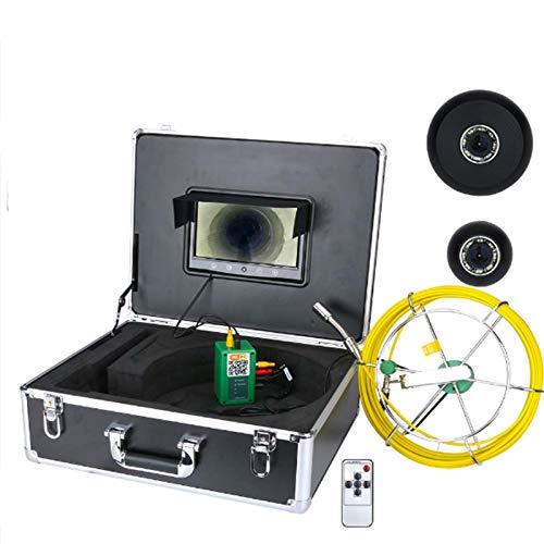 HBHYQ 9 Pulgadas Wi-Fi de 17 mm Sistema de Cámara Industrial alcantarilla de la Pipa de Inspección de vídeo IP68 Impermeable 1000 TVL con App Toma de fotografías, grabación de vídeo,30m