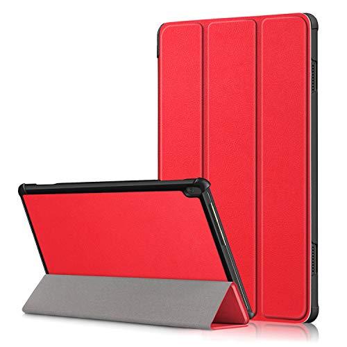 XITODA Hulle Kompatibel mit Lenovo Tab M10 TB X605TB X505PU Leder Tasche mit Stand Funktion Schutzhulle fur Lenovo Tab M10 TB X605FL TB X505FL Case Coverrot