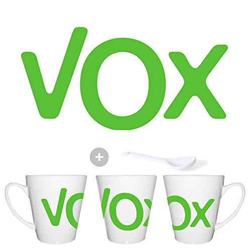 MERCHANDMANIA Taza CONICA Logo Partido VOX Conic mug