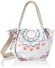 Idea Regalo - Desigual PU Shoulder Bag, Borsa a Tracolla. Donna, Bianco, U