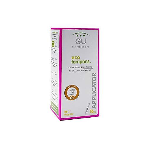 Tampones con aplicador biodegradable - 100% Algodón ecológico - No desprende fibras - Sin plásticos (Talla: Regular)