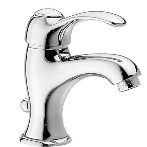 EFFEPI Monocomando lavabo Cromato Serie Lares con attacchi 3/8 e Scarico da 1' 1/4'