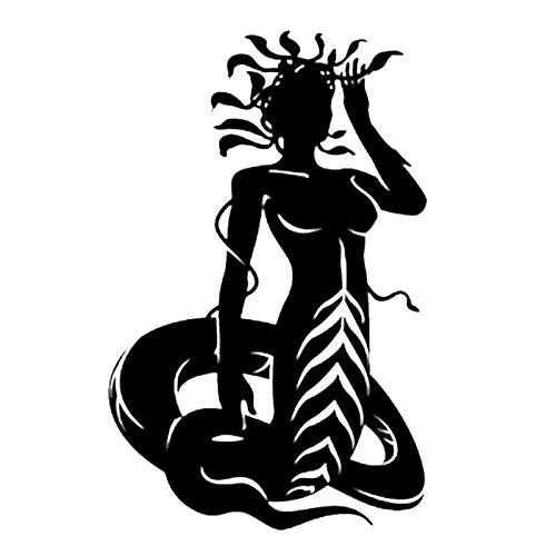 Sexy Snake Woman Medusa Schwarz, Wand Tattoo, Wandaufkleber, dekorative Autoaufkleber, Auf Drift Rennwagen Fenster, Fenster Wandaufkleber, Vinyl Sign Logo, Auto Emblem Aufkleber Aufkleber anwenden