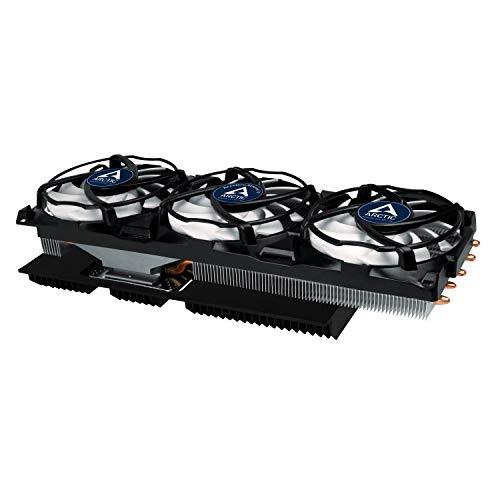 ARCTIC Accelero Xtreme IV - Enfriador de Tarjeta de Video, 3 Ventiladores para PC de 92 mm, 900-2000 RPM, silencioso - Blanco y Negro