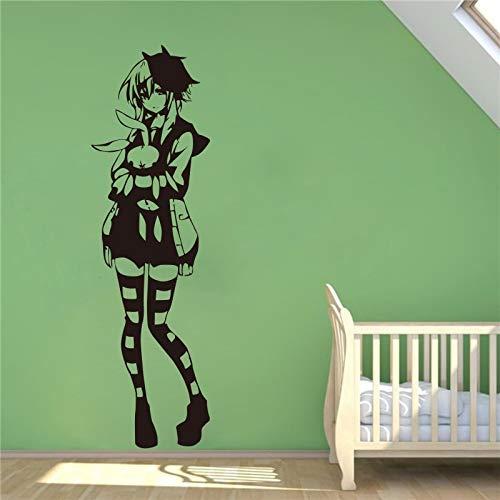 Geiqianjiumai creatieve schattige anime-meisjes sokken vinyl muurtattoos stickers stickers aftrekplaatjes decoratie muursticker