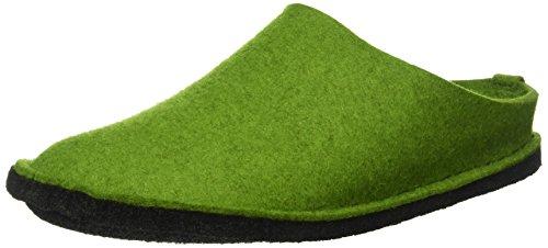 Haflinger Flair Smily, Pantoffeln, Unisex-Erwachsene, Filz aus reiner Wolle, Grün (Grasgrün 36), 39 EU