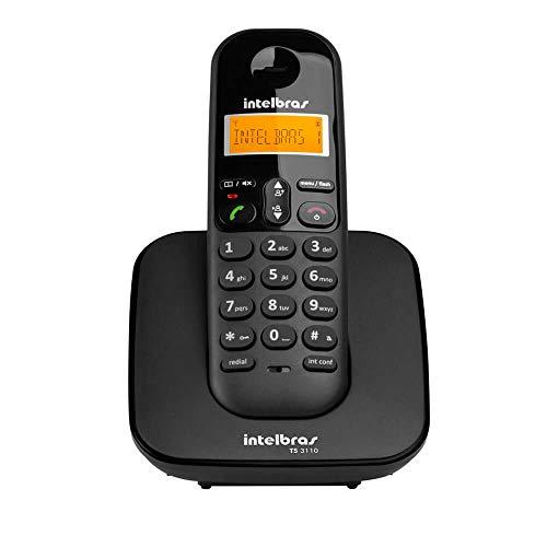 Telefone sem Fio Intelbras TS 3110 Preto - Identificador de Chamada