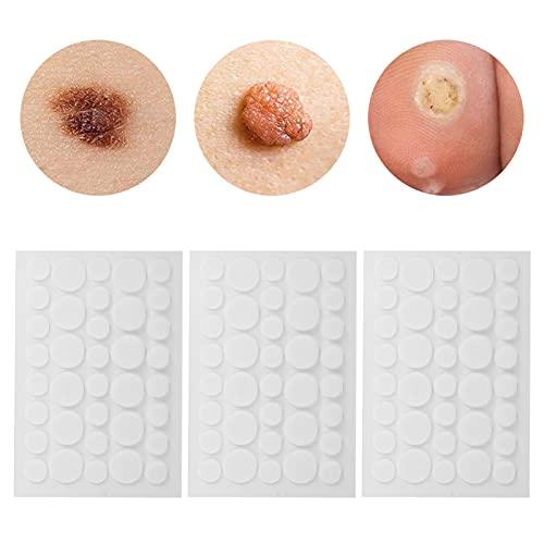 Removedor de etiquetas de piel 108pcs, parches de eliminación de piel de manchas oscuras indoloras, pegatinas de eliminación de condilomas planas para el cuello para la cara y el cuerpo