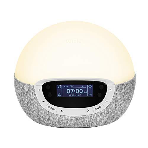 Lumie Bodyclock Shine 300 - Réveil et Simulateur d'Aube et de Crépuscule avec Radio et 14 Mélodies