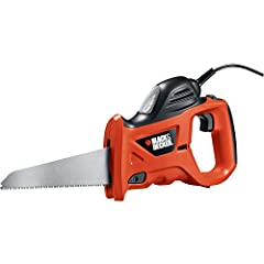 Powerful 3.4 amp, 4,600 SPM motor Powerful 3.4 amp, 4,600 SPM motor Cuts wood and metal; patented tool-free blade changes 6-foot cord; compact and lightweight design 2-year limited warranty Included with handsaw: large capacity blade, metal cutting b...