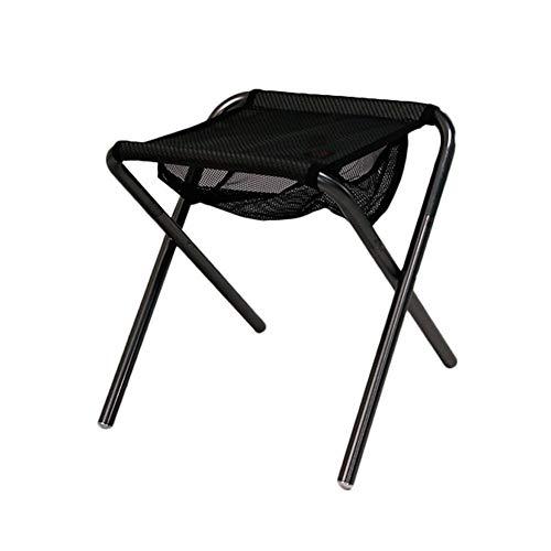 Acampa Plegable al Aire Libre del Taburete de Aluminio Ultra Ligero Plegable heces Silla Portable de la Pesca Maza Camping Boceto Ideal para picnics Camping Playa jardín