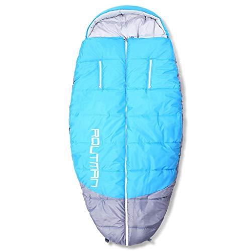 WEIJINGRIHUA Saco de Dormir para Acampar Alcance hacia Fuera el Saco de Dormir Saco de Dormir Gordo al Aire Libre de Gran tamaño Interior para Adultos, Azul, 200X100cm
