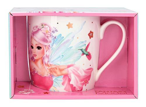 Depesche 11448 Porzellan Becher im FANTASYModel Fairy Design, Tasse mit ca. 300 ml Fassungsvermögen, verziert mit traumhaften Feen-Aufdruck
