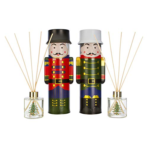 Wax Lyrical 90ML Nutcracker Reed Diffuser Inspired by SPODE Christmas Tree, Youth Large / 11-13, Green/Red