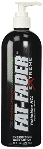 Fat-Fader Extreme Advanced Cellulite Body Firming Cream and Anti-Fat Formula - 16 fl oz Pump w Yohimbine hcl, Green Tea and Vitamin-C