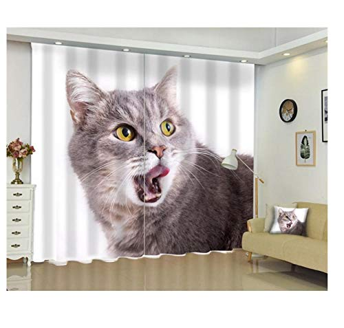 Safiman Vorhang Vorhang Raumtrennung Retro-Muster Kreatives Wohnzimmer, Energieeinsparung und GeräuschreduzierungH215 X W260cm