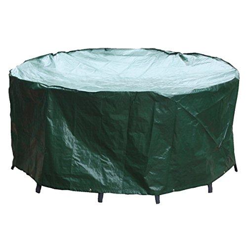 PJDH cubierta de muebles de ratán al aire libre 190 x 80 cm redonda cubierta de mesa de patio impermeable muebles de jardín conjunto cubre circular para mesa y sillas, DH11065EU