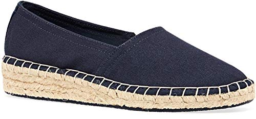 Superdry Classic Wedge Espadrille Womens Trainers 41 EU Dark Navy