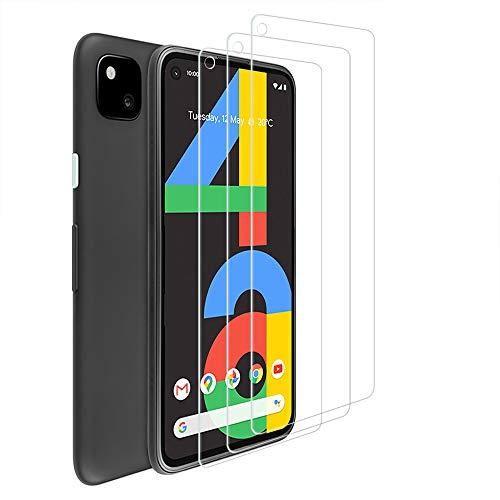 ANEWSIR 3 Stück Displayschutzfolie für Google Pixel 4A Panzerglas, 9H Härte Schutzfolie, Anti-Bläschen, Anti-Kratzen, Displayschutz Folie für Pixel 4A