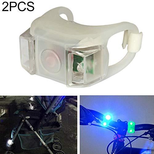 Lot de 2 Lampes d'avertissement en Silicone pour vélo - pour extérieur - Noir, Blanc