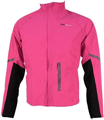 Piu Miglia Waterproof Womens Cycling Jacket - Pink-Large (UK 14)
