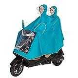 SHOPPERSKY Bike Raincoat Unisex Double Bike/Bike/Motorcycle/Scooter Cycling Jacket Poncho Raincoat Cape