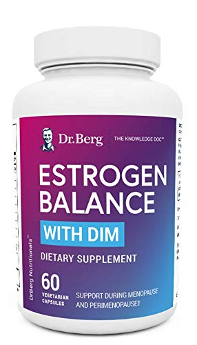 Dr. Berg's Estrogen Balance with DIM Diindolylmethane/Promotes Healthy Estrogen Metabolism, Vegetarian Capsules – Aromatase Inhibitor to Support Healthy Estrogen Levels
