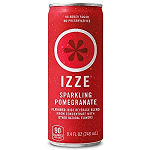IZZE Sparkling Juices include 70% fruit juice with a splash of sparkling water No added sugar or preservatives The perfect feel-good drink to brighten up your day Includes (24) 8.4 oz Sparkling Pomegranate cans