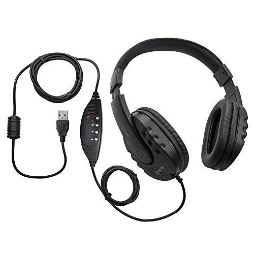 ECS WordMaster USB Transcription Headset - Overhead, Around The Ears