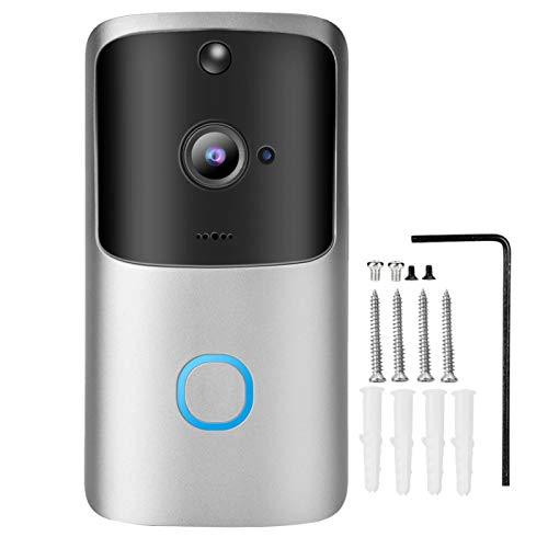 Yinhing Timbre inalámbrico HD WiFi Cámara Timbre, Videoportero Inteligente Teléfono de la Puerta Cámara de Seguridad Anillo de visión Nocturna Timbre de Video para el hogar