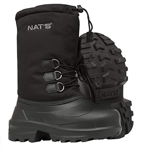 NAT'S R900 Ultra Light Winter Boots(1.2lbs) - 100% Waterproof EVA Bottom w/Primaloft Insulated Foam Liner - Comfort Zone up to -121°F - Ideal Boots for Snowmobile, Winter ATV, Shoveling (14) Black