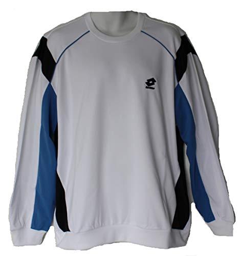 Lotto Race Sweat-shirt pour homme Taille XXL (US) Blanc/bleu marine