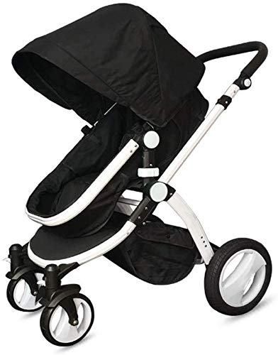 Great Price! Yankuoo Baby Travel System, Lightweight Folding City Trolley, Baby Bassinet, Four-Wheel...