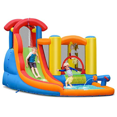 BOUNTECH Inflatable Bounce House, 6 in 1 Water...